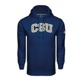 Under Armour Navy Performance Sweats Team Hood-CSU Arched