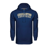 Under Armour Navy Performance Sweats Team Hood-Charleston Southern Arched