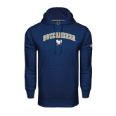 Under Armour Navy Performance Sweats Team Hood-Buccaneers Arched