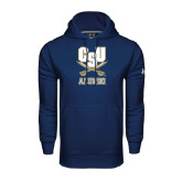 Under Armour Navy Performance Sweats Team Hood-Alumni