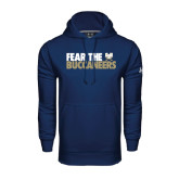 Under Armour Navy Performance Sweats Team Hood-Fear The Buccaneers