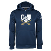 Under Armour Navy Performance Sweats Team Hoodie-Primary Athletic Mark