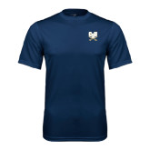 Syntrel Performance Navy Tee-CSU-Swords Logo