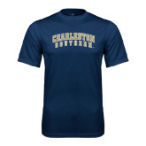 Syntrel Performance Navy Tee-Charleston Southern Arched