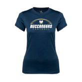 Ladies Syntrel Performance Navy Tee-Buccaneers Football Horizontal
