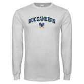 White Long Sleeve T Shirt-Arched Buccaneers