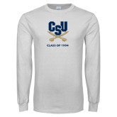 White Long Sleeve T Shirt-Class of … Personalized Year