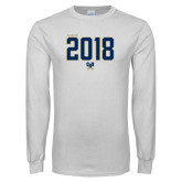 White Long Sleeve T Shirt-Class of … Personalized Year - Jersey Style