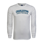 White Long Sleeve T Shirt-Charleston Southern Arched