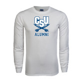 White Long Sleeve T Shirt-Alumni