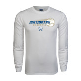 White Long Sleeve T Shirt-Buccaneers Baseball Flying Ball