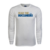 White Long Sleeve T Shirt-Fear The Buccaneers