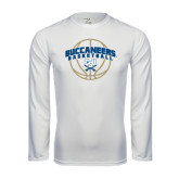 Syntrel Performance White Longsleeve Shirt-Buccaneers Basketball Arched