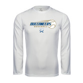 Syntrel Performance White Longsleeve Shirt-Buccaneers Baseball Flying Ball
