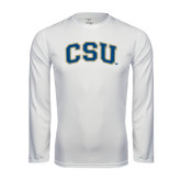 Syntrel Performance White Longsleeve Shirt-CSU Arched