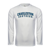 Syntrel Performance White Longsleeve Shirt-Charleston Southern Arched