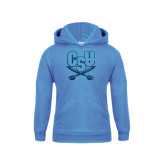 Youth Light Blue Fleece Hood-CSU-Swords Logo Foil