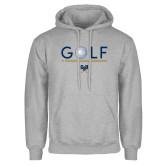 Grey Fleece Hoodie-Golf Star w/ Bars