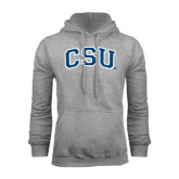 Grey Fleece Hood-CSU Arched