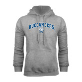 Grey Fleece Hood-Buccaneers Arched