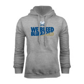 Grey Fleece Hood-We Bleed Blue & Gold