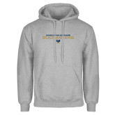 Grey Fleece Hoodie-Charleston Southern Buccaneers Stacked w/ Logo