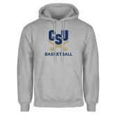 Grey Fleece Hoodie-Basketball