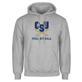 Grey Fleece Hoodie-Volleyball