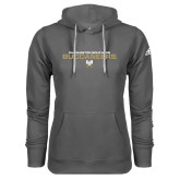 Adidas Climawarm Charcoal Team Issue Hoodie-Charleston Southern Buccaneers Stacked w/ Logo
