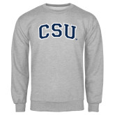Grey Fleece Crew-CSU Arched