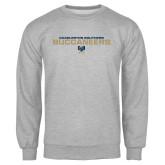 Grey Fleece Crew-Charleston Southern Buccaneers Stacked w/ Logo