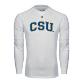 Under Armour White Long Sleeve Tech Tee-CSU Arched