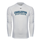 Under Armour White Long Sleeve Tech Tee-Charleston Southern Arched