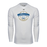 Under Armour White Long Sleeve Tech Tee-Buccaneers Basketball Arched