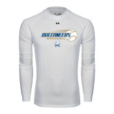 Under Armour White Long Sleeve Tech Tee-Buccaneers Baseball Flying Ball