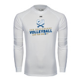 Under Armour White Long Sleeve Tech Tee-Volleyball Can You Dig It