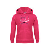 Youth Raspberry Fleece Hood-CSU-Swords Logo Foil