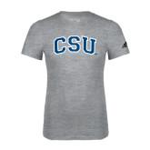 Adidas Sport Grey Logo T Shirt-CSU Arched
