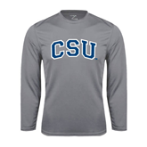 Performance Steel Longsleeve Shirt-Primary Athletic Mark