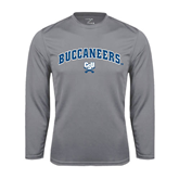 Performance Steel Longsleeve Shirt-Charleston Southern Buccaneers Stacked w/ Logo