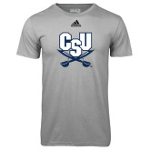 Adidas Climalite Sport Grey Ultimate Performance Tee-CSU-Swords Logo