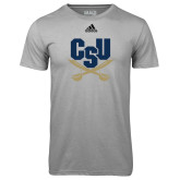 Adidas Climalite Sport Grey Ultimate Performance Tee-Primary Athletic Mark