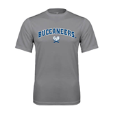 Performance Grey Concrete Tee-Charleston Southern Buccaneers Stacked w/ Logo