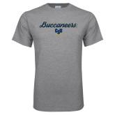 Grey T Shirt-Buccaneers Script