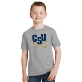 Youth Grey T Shirt-Primary Athletic Mark