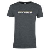 Ladies Dark Heather T Shirt-Charleston Southern Buccaneers