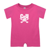 Bubble Gum Pink Infant Romper-Primary Athletic Mark