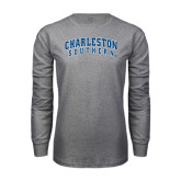 Grey Long Sleeve T Shirt-Charleston Southern Arched