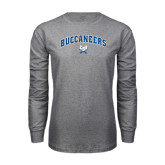 Grey Long Sleeve T Shirt-Buccaneers Arched