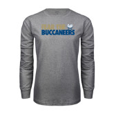 Grey Long Sleeve T Shirt-Fear The Buccaneers